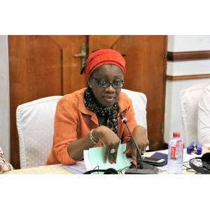 MPOUMA LOGMO Géraldine Esther, Cheffe de la Cellule de la Communication et des Relations Publiques de CAMWATER et fervente militante de la promotion des femmes dans les secteurs de l'eau et de l'environnement