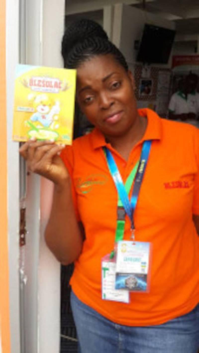 Pascaline NENDA, Promotrice de LAMANA, une entreprise dédiée à la nutrition infantile basée sur les mets locaux.