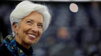 Christine Lagarde a notamment pris pour exemple la chanceli/u00e8re allemande Angela Merkel. Vincent Kessler // REUTERS