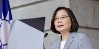 La pr/u00e9sidente ta/u00efwanaise Tsai Ing-wen le 20 mai 2020 /u00e0 Taipei. | Taiwan presidential office // AFP