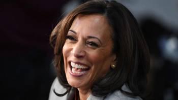 Kamala Harris, s/u00e9natrice de 55 ans, pourrait /u00eatre la future vice-pr/u00e9sidente am/u00e9ricaine si Joe Biden venait /u00e0 l'emporter le 3 novembre prochain. SAUL LOEB // AFP