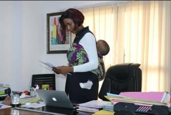 Fatou Cont/u00e9, la cheffe de cabinet du minist/u00e8re des sports @yitane