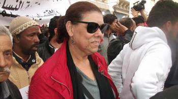 Noura Borsali lors d/u2019une manifestation contre la violence politique. Tunis, le 9 Mars 2013 Omegatak // CC BY-SA