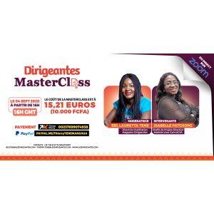 MasterClass Live du 4 septembre avec Dr. Isabelle PATCHONG, Directrice Technique à 29 ans et modèle de leadership
