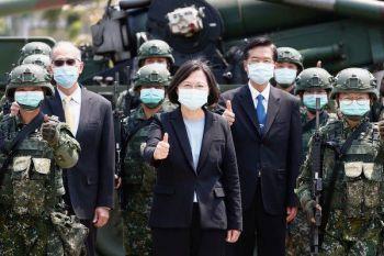 President Tsai Ing-wen of Taiwan at a military base this spring amid the coronavirus pandemic.Credit...Ritchie B. Tongo//EPA, via Shutterstock