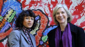 Les généticiennes Emmanuelle Charpentier et Jennifer Doudna. Miguel RIOPA / AFP