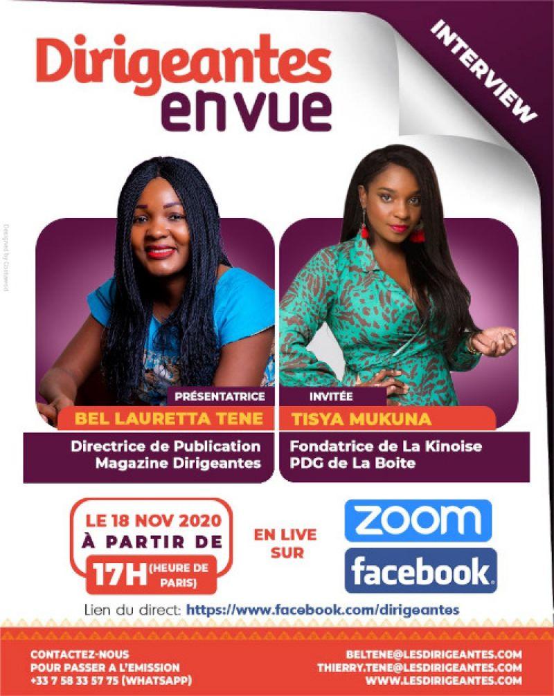 Interview exclusive Tysia MUKUNA,  Fondatrice de la Boîte, PDG  la Kinoise