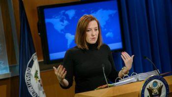 Jen Psaki occupera le poste très en vue d'attachée de presse de la Maison-Blanche. BRENDAN SMIALOWSKI / AFP