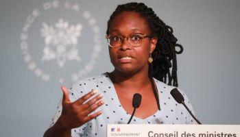 L'ancienne porte-parole du gouvernement Sibeth Ndiaye, lors d'une conférence de presse au Palais de l'Elysée, le 27 mai 2020, Reuters