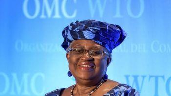Le Dr Ngozi Okonjo-Iweala est candidate au poste de prochain directeur général de l'OMC. FABRICE COFFRINI / AFP