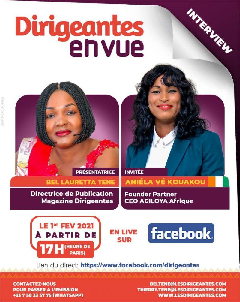 Interview exclusive Aniéla Vé kouakou, Founding Partner, CEO AGILOYA Afrique