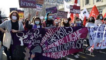 Manifestation à Paris le 8 mars, journée des droits des femmes. BERTRAND GUAY / AFP
