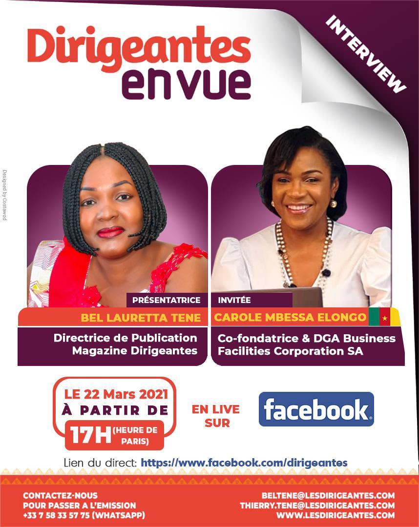 Interview exclusive Carole MBESSA ELONGO, Co-fondatrice & DGA de Business Facilities Corporation SA