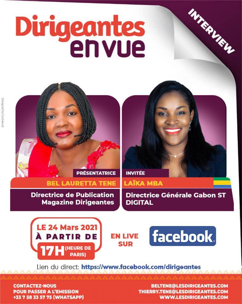 Interview exclusive Laïka MBA, Directrice Générale Gabon de ST DIGITAL