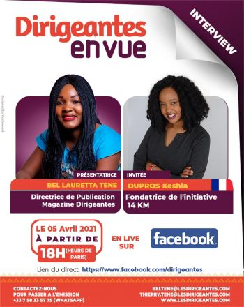 Interview exclusive Keshia DUPROS, Fondatrice de 14KM Initiative