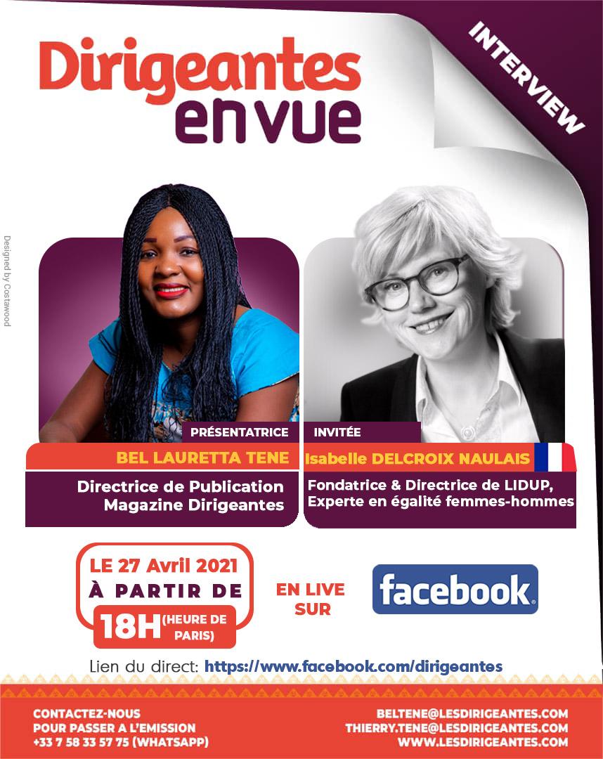 Interview exclusive Isabelle DELCROIX NAULAIS, Fondatrice & Directrice de LIDUP, Experte en égalité femmes-hommes
