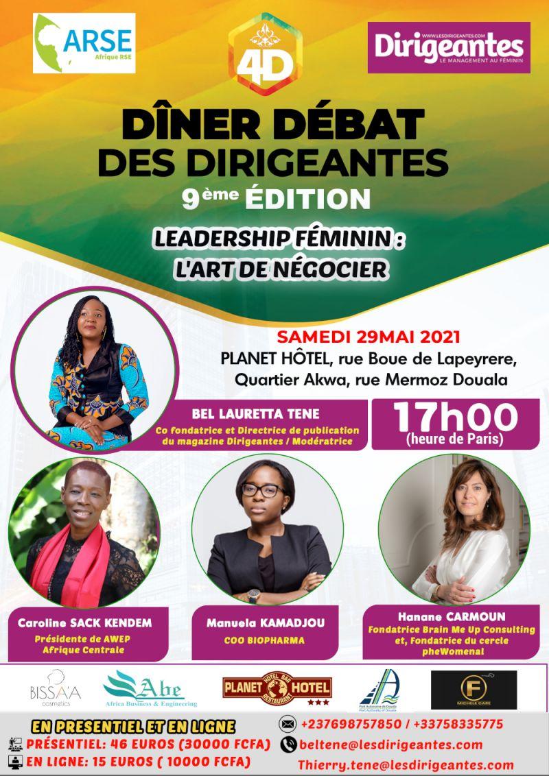 Dîner Débat Des Dirigeantes (4D) sur le thème « Leadership féminin : l'art de négocier »