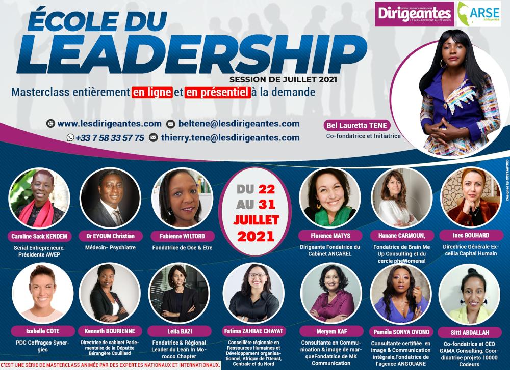 Le magazine Dirigeantes, le leadership au féminin  en collaboration avec le Cabinet Afrique RSE  , lance l' école de leadership.