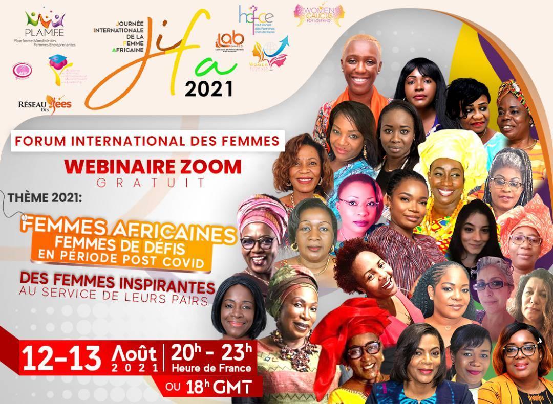 La Plateforme Mondiale des Femmes Entreprenantes (PLAMFE) organise un webinaire du 12 au 13 Août en hommage à la Journée Internationale de la Femme Africaine (JIFA)
