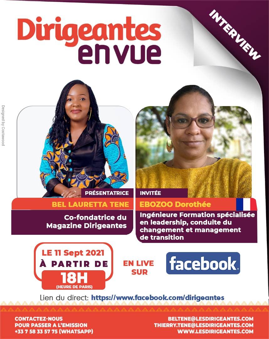 INTERVIEW EBOZOO Dorothée, ingénieure formation spécialisée en leadership, conduite du changement et management de transition